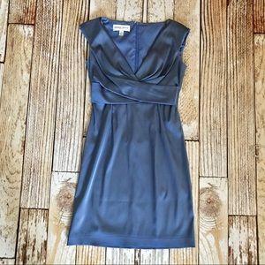 Donna Ricco NY Blue Satin Sheath Dress